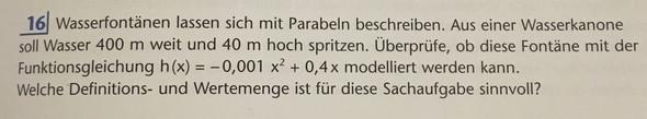 Die Aufgabe - (Schule, Mathe, Parabel)