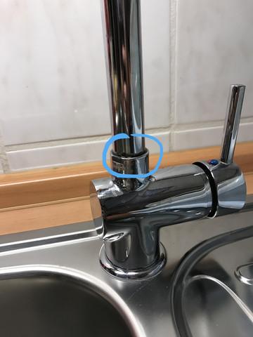 Wasserhahn mit defekter stelle  - (Reparatur, Küche, Handwerk)