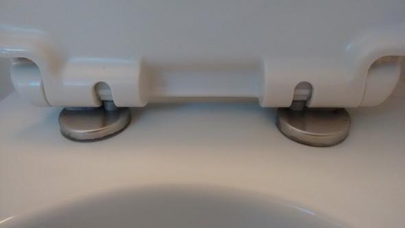 WC-Sitz wackelt. Wie Schraube festziehen?