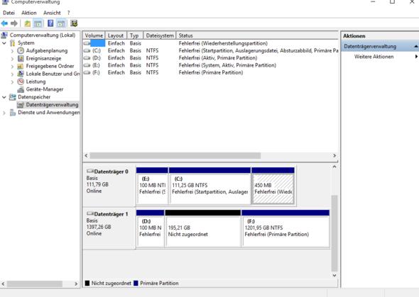 Festplattenverwaltung - (Computer, PC, Windows 7)