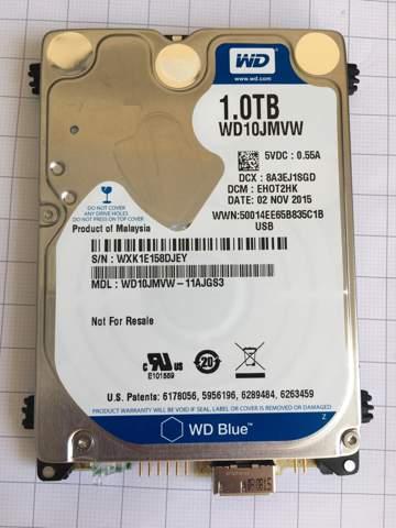 WD USB Festplatte Motor Strom Pol finden?