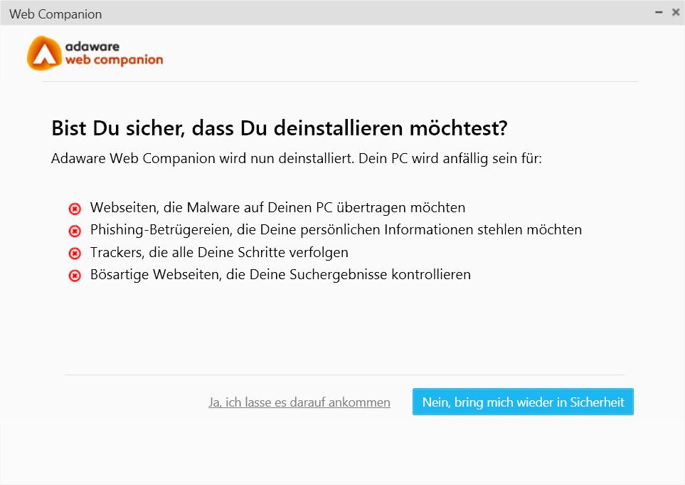 Webcompanion Deinstallieren