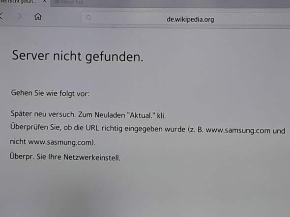 Webbrowser auf Samsung Smart TV funktioniert nicht mehr?