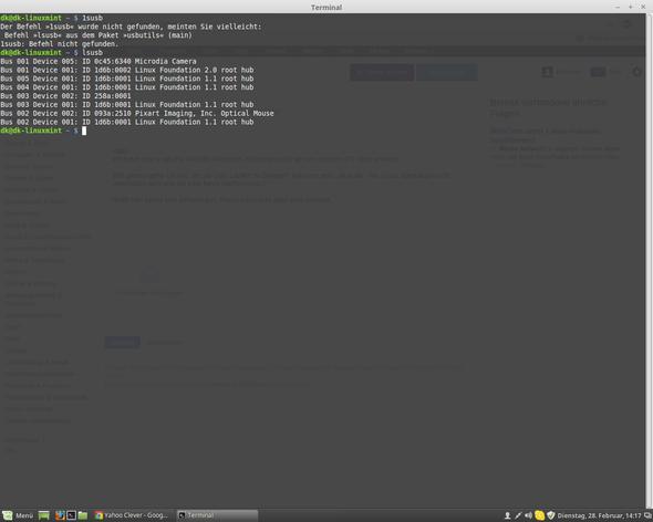 Webcam wird auf meinem Linux-PC nicht erkannt. Was kann ich tun?