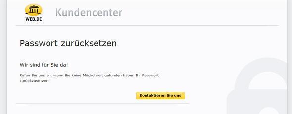 Passwort vergessen - (web.de, passwort vergessen, teure hotline)