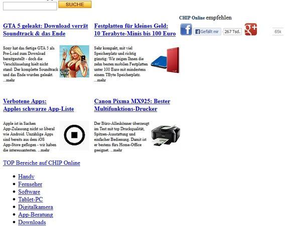 Webseitenfehler Beispiel - (Internet, Fehler, Java)