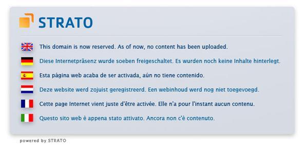 Meldung - (Website, html, hochladen)