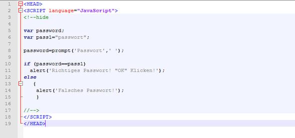 Screenshot vom Code in Notepad++ - (Computer, Technik, Software)