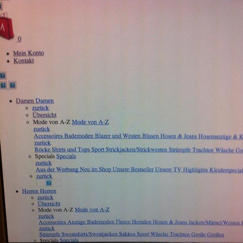 So sieht die Webseite bei mir aus  - (Internet, Webseite, Imac)