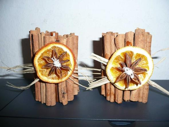 Teelichthalter - (Weihnachten, Orange, trocknen)