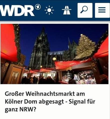 Weihnachtsmarkt Köln abgesagt, soll alles abgesagt werden?