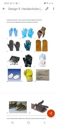Weis einer von euch wozu wir diese Handschuhe brauchen für was die gebraucht werden?