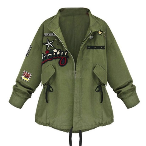 Jacke mit Mustern sie ist grün  - (Jacke, grün)