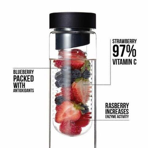 Flasche  - (Wasser, Obst, Flasche)