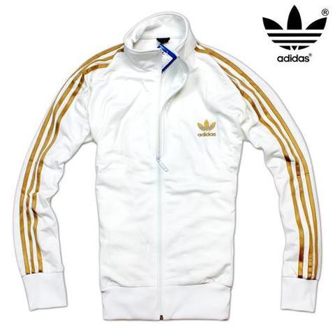 Adidas Jacke Schwarz Weiß Herren Weiß / Goldene Adidas Jacke