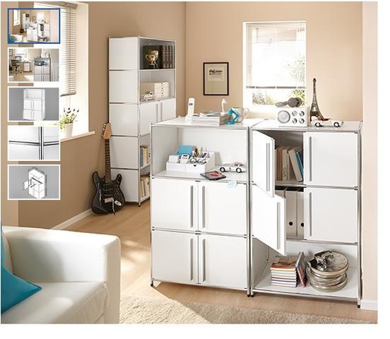Metallregal weiß  Weiß einer den Hersteller vom neuen Regal- Möbelsystem von Tschibo ...