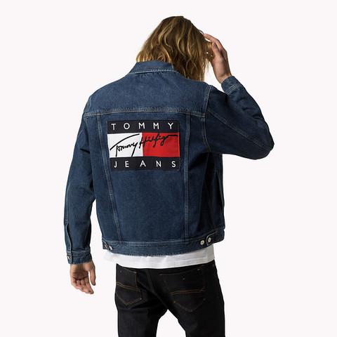 Tommy hilfiger jeansjacke patch