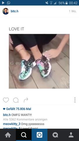 Glitterschuhe - (Geschenk, Schuhe)
