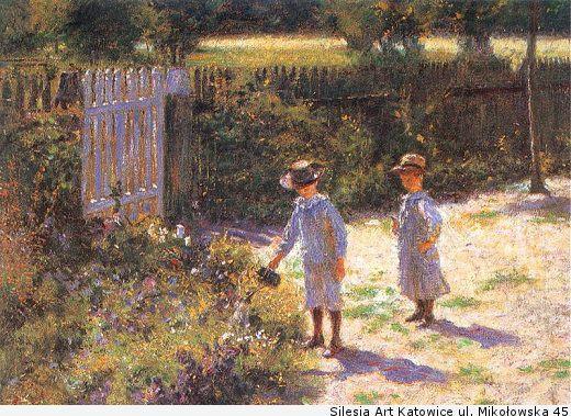 Kinder im Garten - (Bilder, Kunst, Bedeutung)