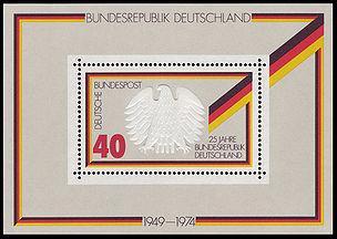 25 Jahre Bundesrepublik Deutschland (Blocknummer 10) - (Finanzen, Deutschland, Wert)
