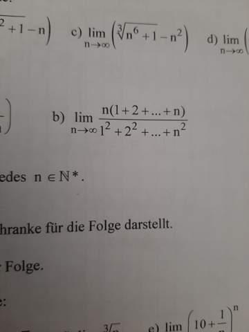 Weiss jemand von euch wie man hier den Grenzwert errechnet?