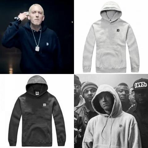 Weiß jemand von welcher Marke dieser Hoodie ist, den Eminem
