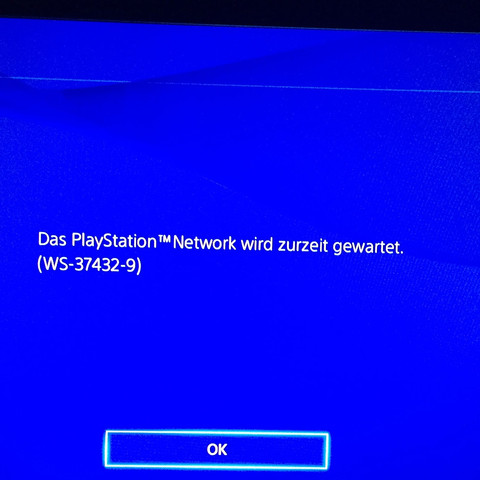 Das PlayStation Network Wird zurzeit gewartet  - (online, PS4, Playstation)