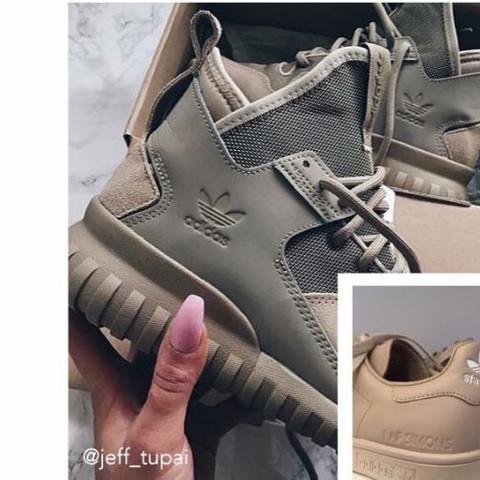 wie nennt man die farbe,und welche adidas sind das? - (Schuhe, adidas, kaki)