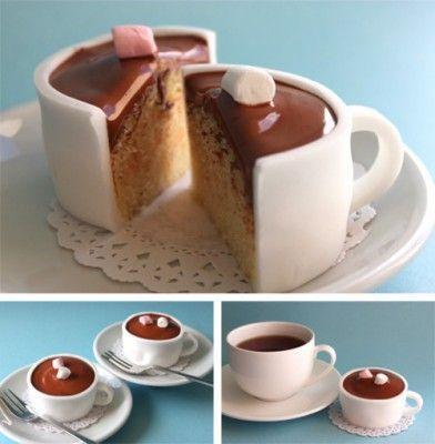 wei jemand wie man diesen kuchen macht der so wie eine tasse aussieht backen k che. Black Bedroom Furniture Sets. Home Design Ideas