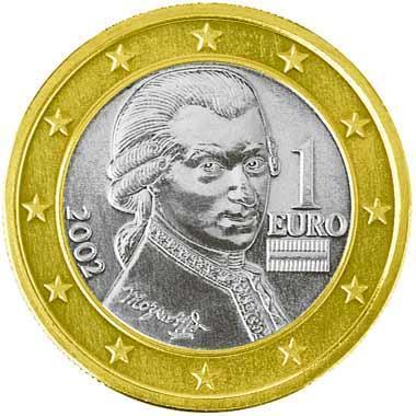 Weiß Jemand Wie Viel Diese 1 Euro Münze Mit Mozart Wert Ist Münzen