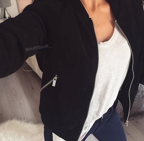 Schwarze Jacke - (kaufen, Jacke)
