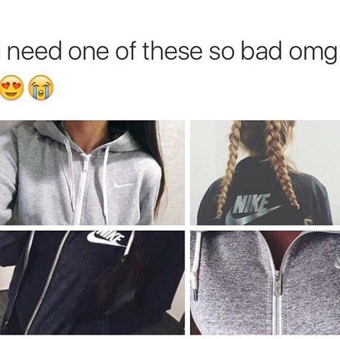und hiervon die Jacke oben links oder unten rechts&links - (Kleidung, Nike, Jacke)