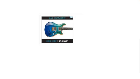 Gitarren-Werbung - (Gitarre, Thomann)