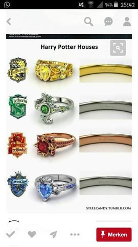 Ringe Harry POTTER  - (Harry Potter, Fanartikel, Hogwarts)
