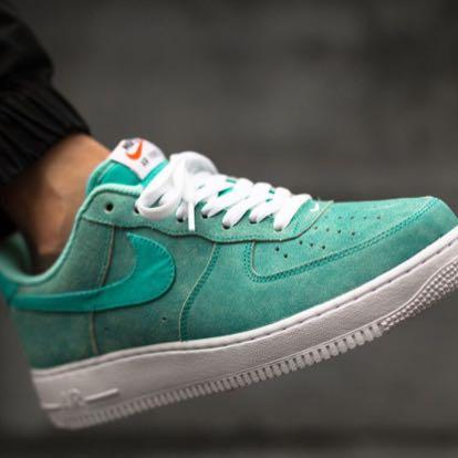 Nike Air Force Türkis Weiß
