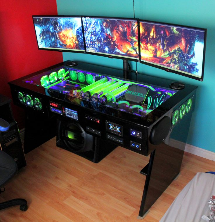 wei jemand wo ich so einen tisch finde pc gaming setup. Black Bedroom Furniture Sets. Home Design Ideas