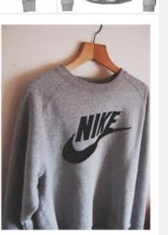 Grauer Nike Pulli - (Kleidung, im internet bestellen)