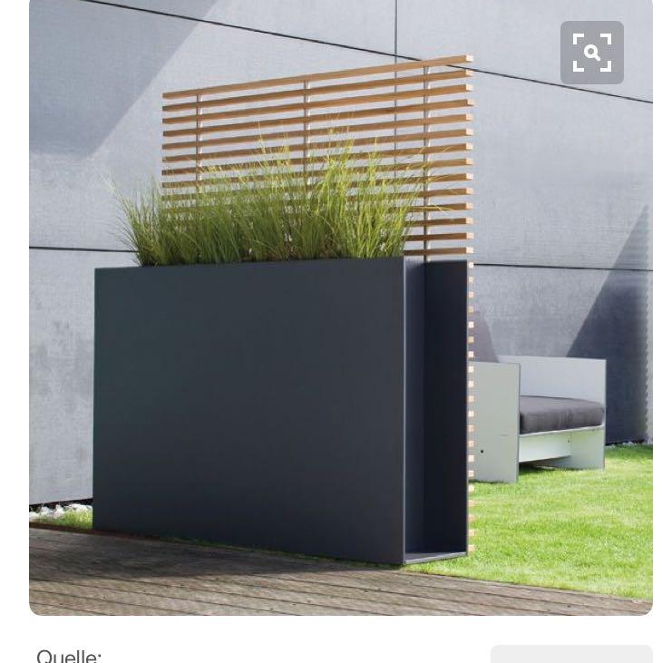 wei jemand wo man diesen bertopf mit sichtschutz kaufen. Black Bedroom Furniture Sets. Home Design Ideas