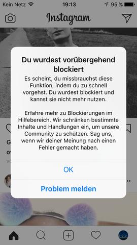 Wer blockiert hat instagram mich blockieren Instagram wer