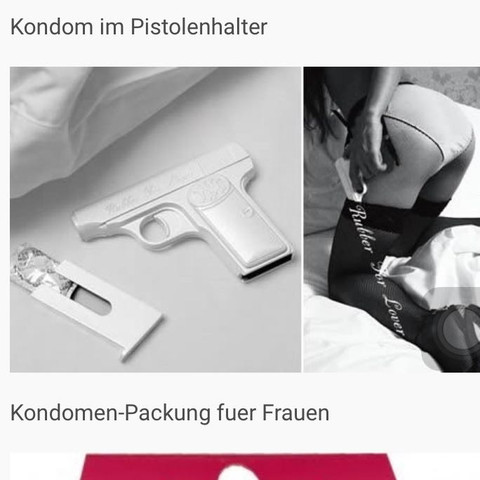 Kondom Halterung als Pistole  - (Kondom, Pistole, Sexspielzeug)