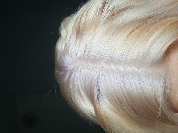 weiße ansätze durch blondieren. was tun ? (friseur, blond, haare färben)