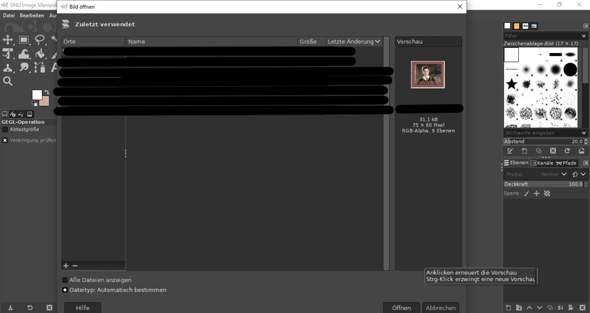 Weiße Ecken entfernen mit GIMP?