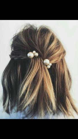 Weisse Haarspangen Frisur Haarspange