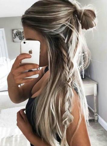 Weiße Strähnen Haare Friseur Weiße Haare