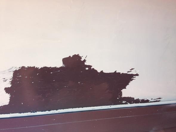 Weißen Lack Von Braun Eloxiertem Metallfensterrahmen Entfernen