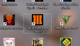 Weißen Rand um Desktop-Icons entfernen?
