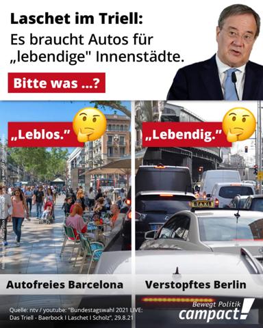 Welche Art von Innenstädten gefällt euch besser? Die von Annalena Baerbock oder die von Armin Laschet....!?