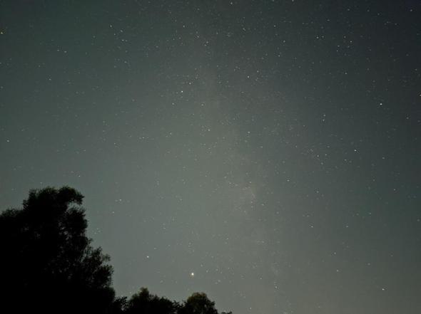 Welche besonderen astronomischen Objekte sieht man auf diesem Foto?