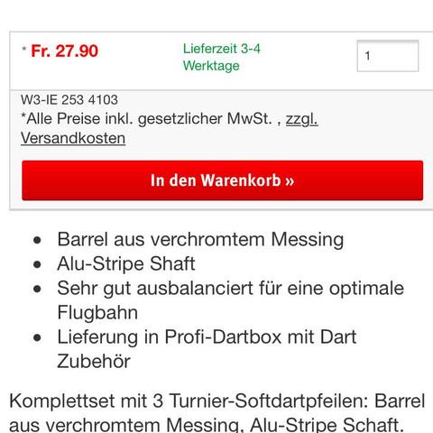 "Dartbox ""A"" - (Sport, Dart, Dart Pfeil)"