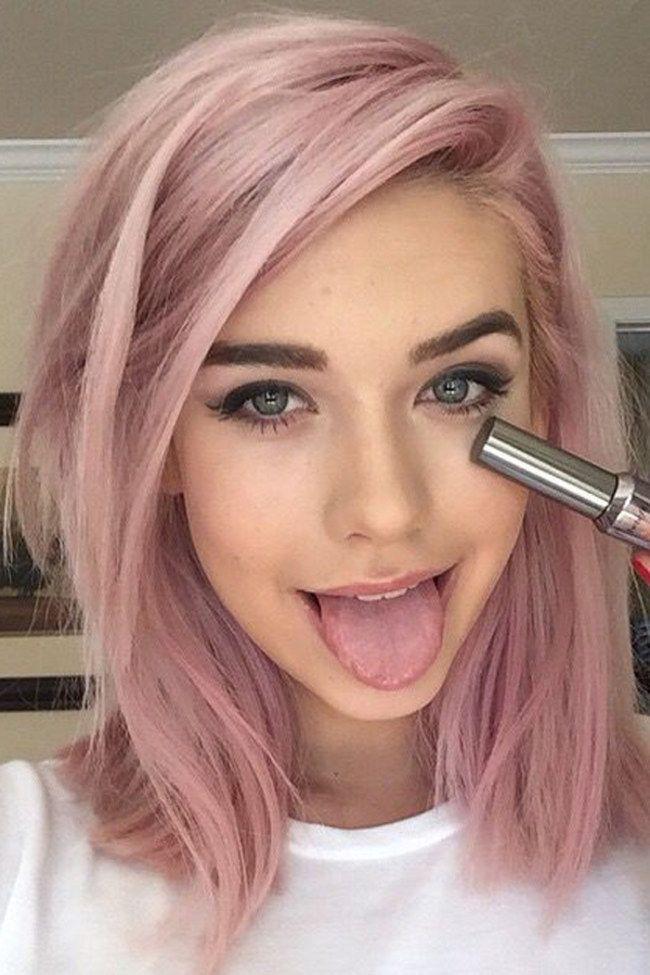 Welche Directions F 252 R Rosa Haare Auf Braunem Haar Farbe